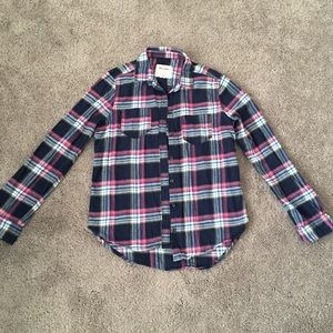 Abercrombie boy flannel long sleeves shirt